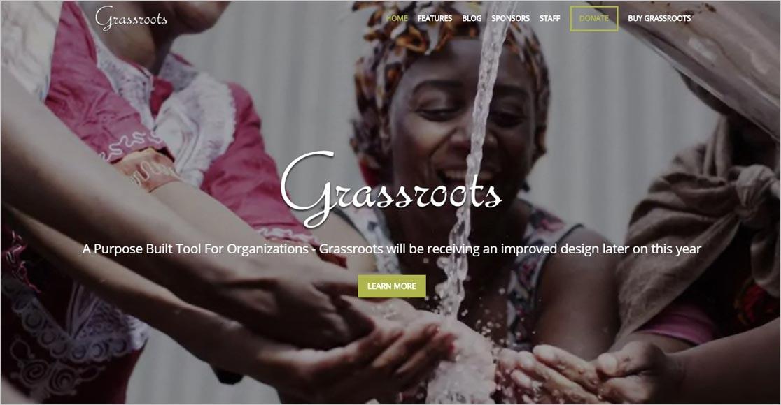 Grassroots best wordpress church themes