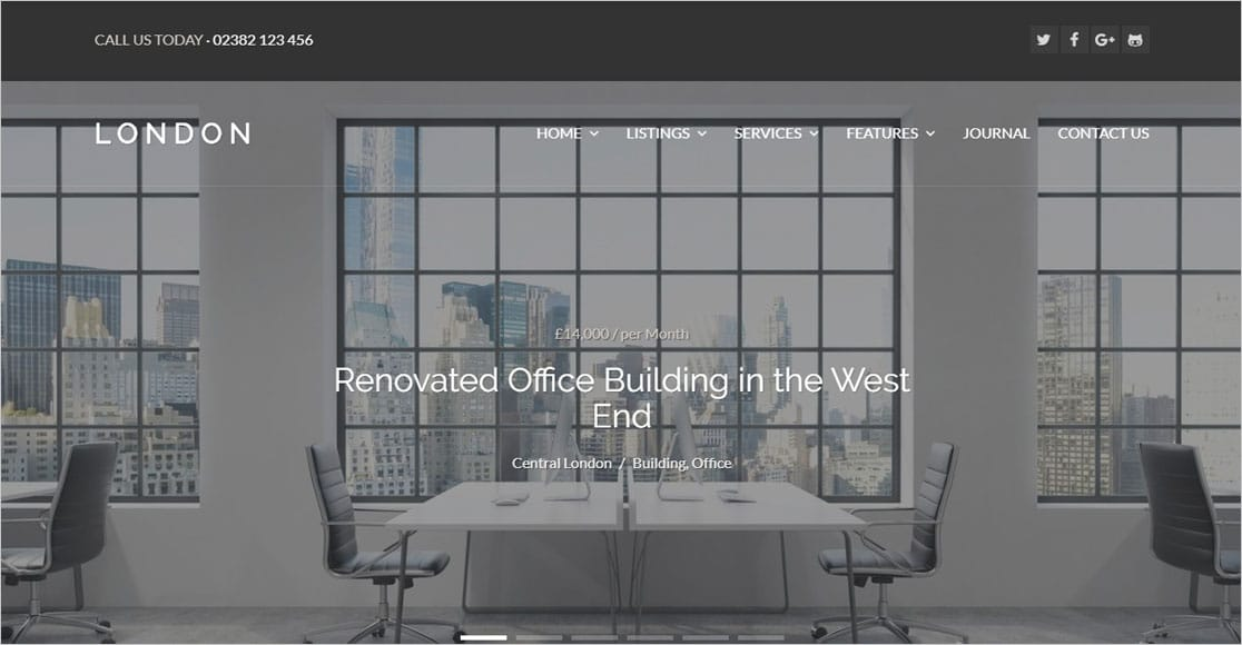 London Real Estate Theme