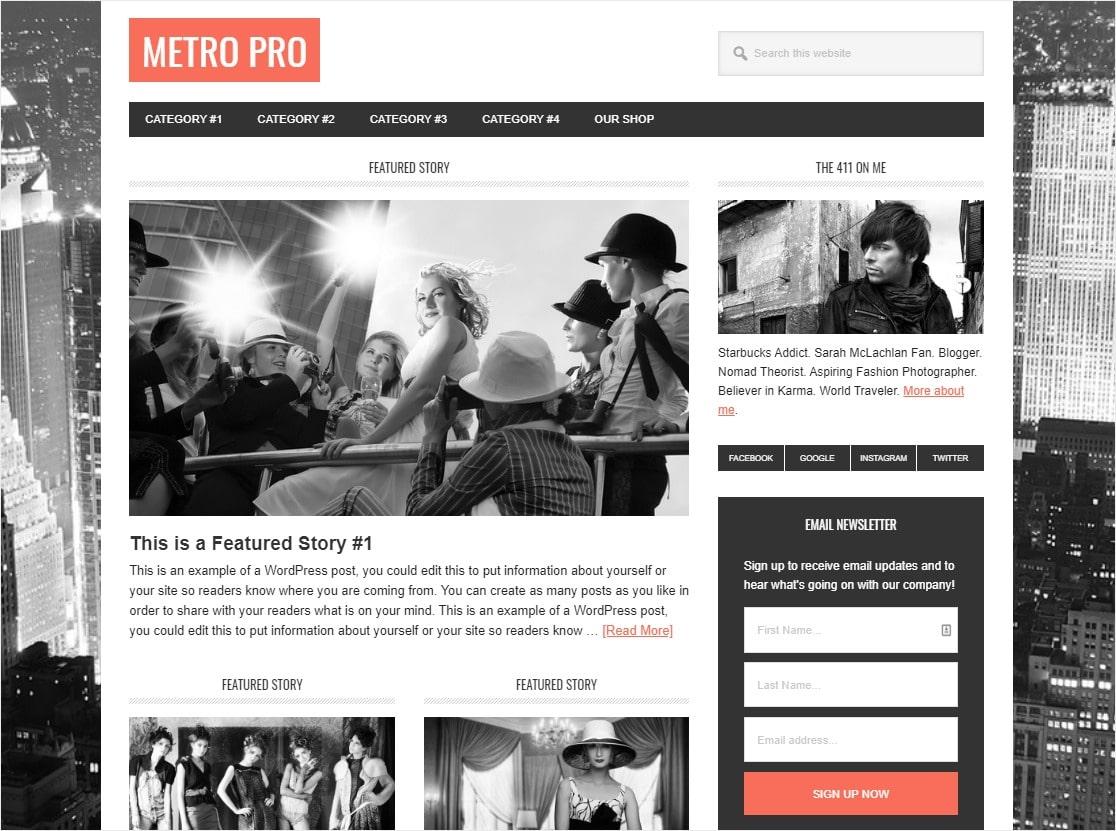 metro pro wordpress event theme