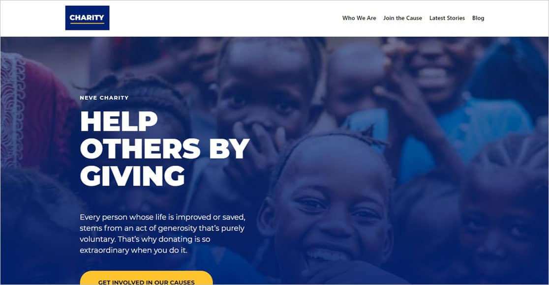 Neve Non-Profit WordPress Theme