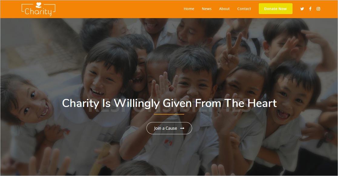 OceanWP Charity Theme
