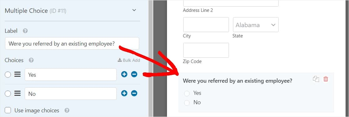 referral form field