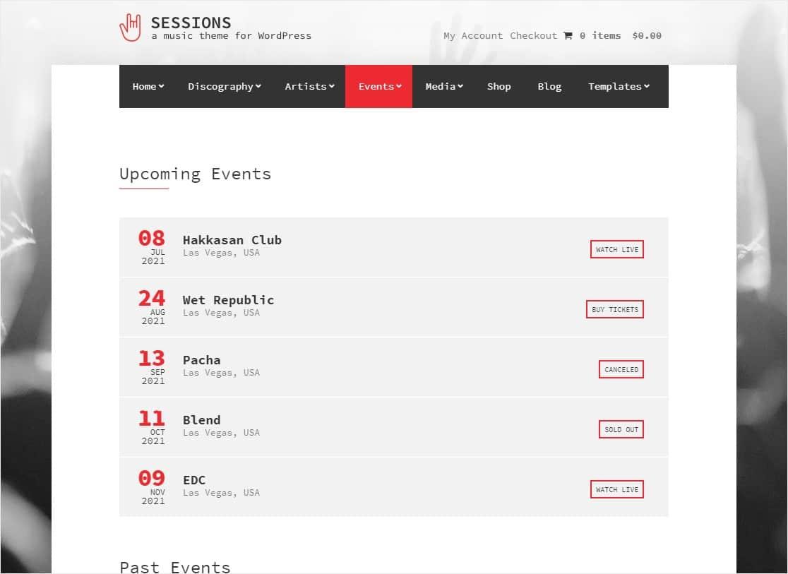 sessions event wordpress theme