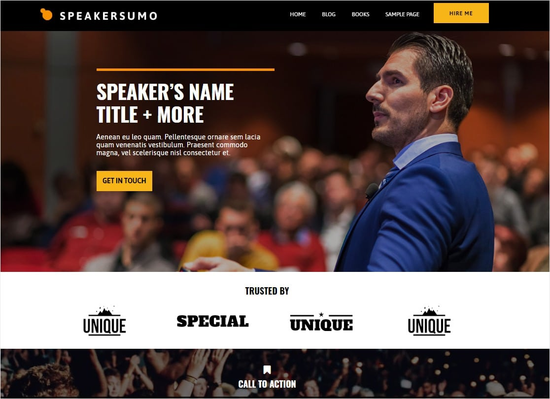 speakersumo blog with calendar