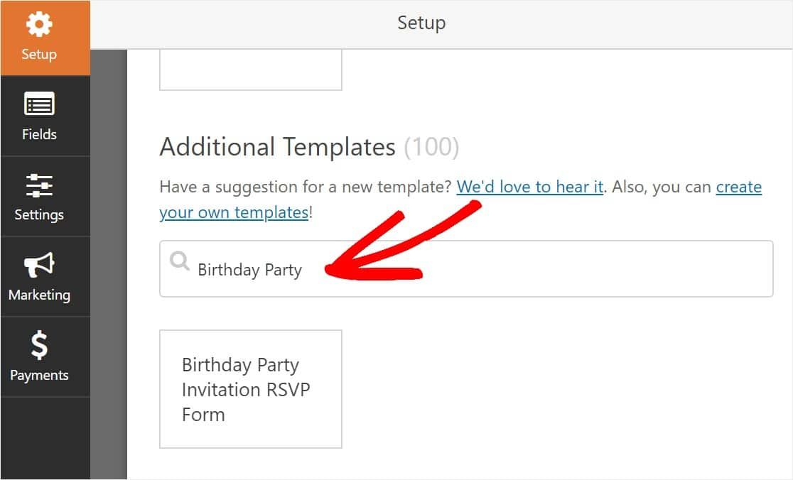 free online rsvp birthday party template