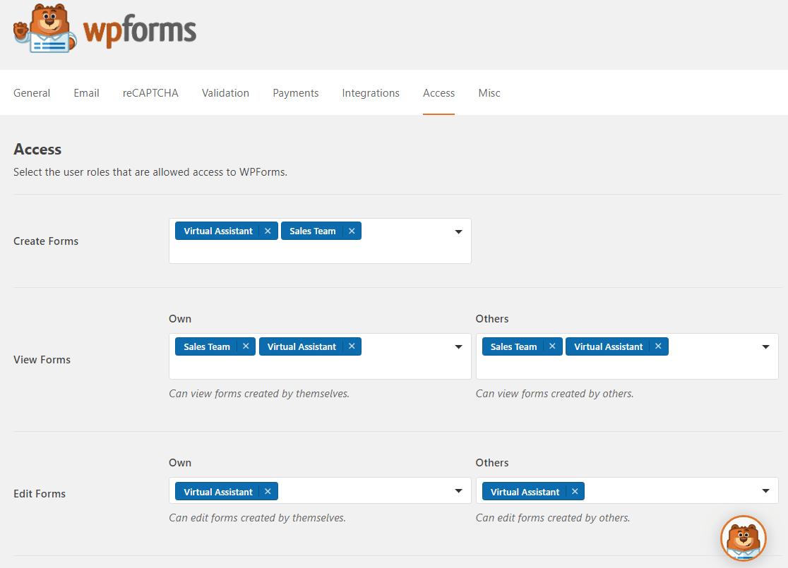 new access controls