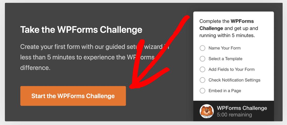 Take the WPForms challenge