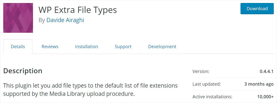 wp extra file types