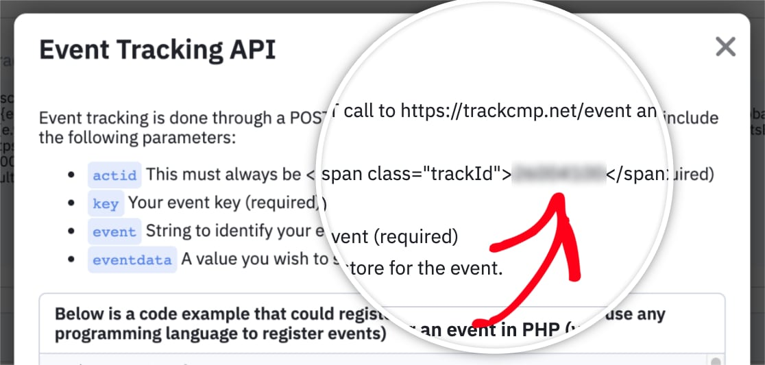 Copy Event Tracking Account ID