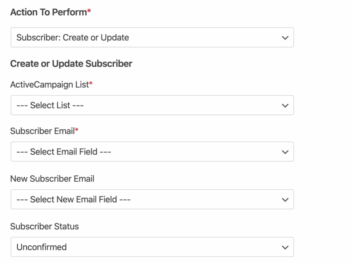 Create or Update ActiveCampaign subscriber