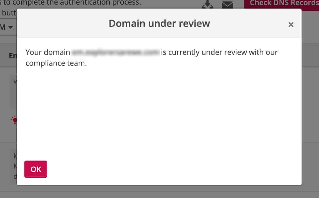 Domain-is-under-review-by-Pepipost-complance-team