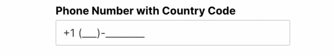 Input mask for US phone number with country code