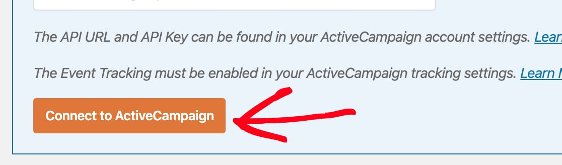 Save connection to ActiveCampaign