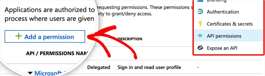outlook smtp add a permission