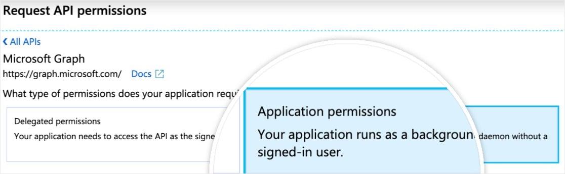 wordpress outlook mailer add app permissions
