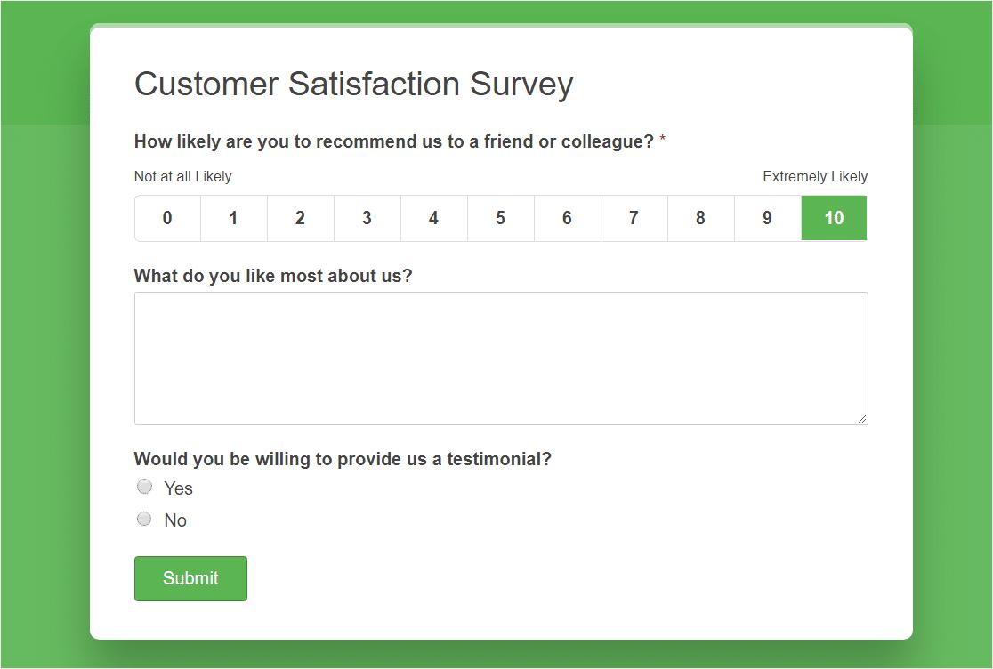 customer satisfaction survey small business marketing idea