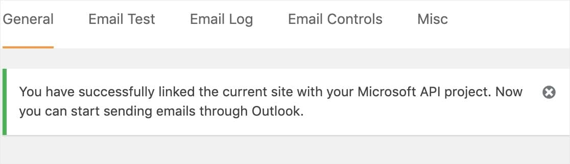 microsoft api confirmation outlook smtp