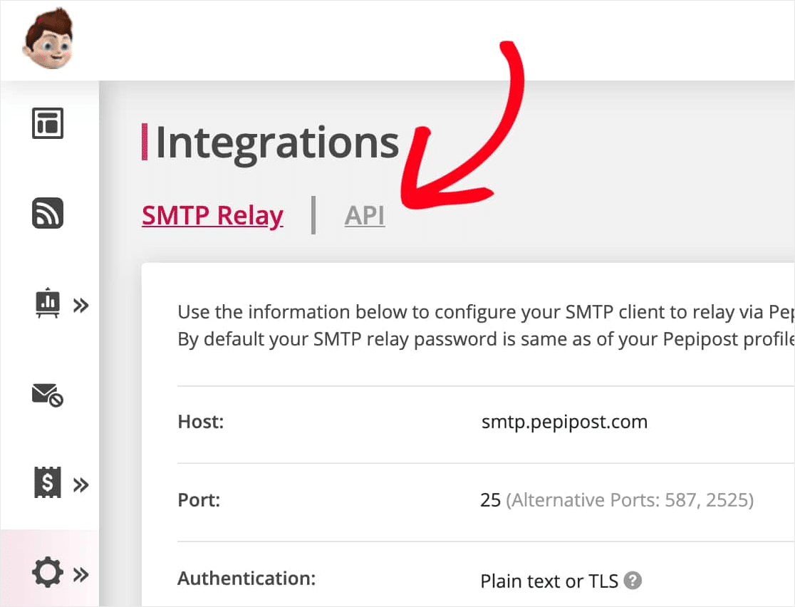 pepipost smtp integration
