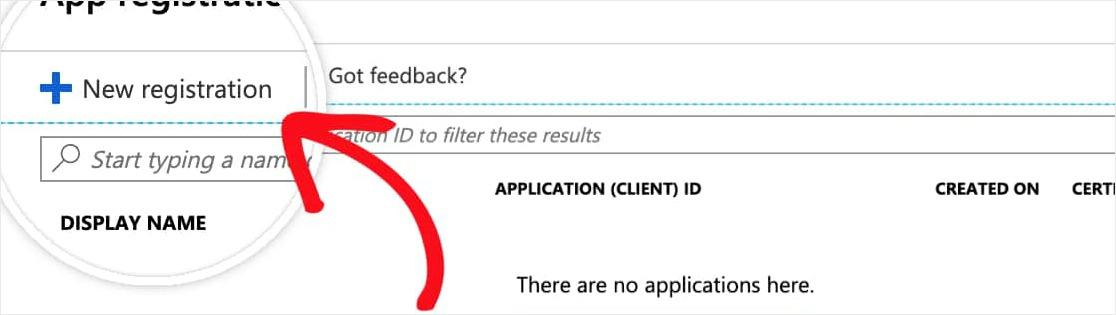 select new registration