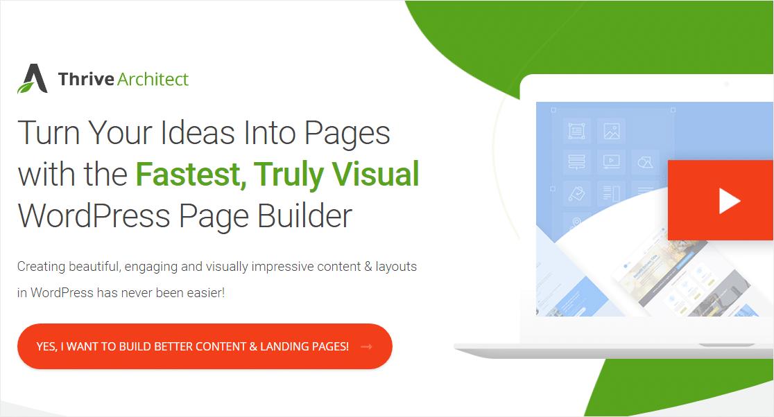 thrive architect best wordpress page builder