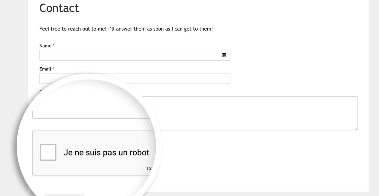 now the language for google recaptcha is set to french