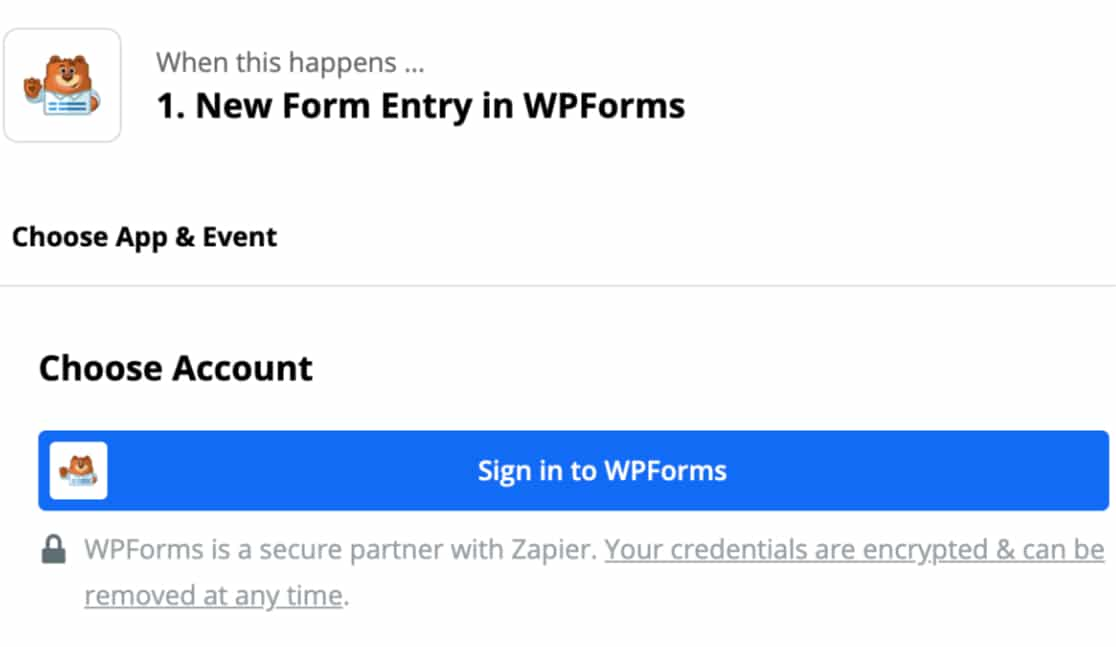 setting up WPForms in Zapier
