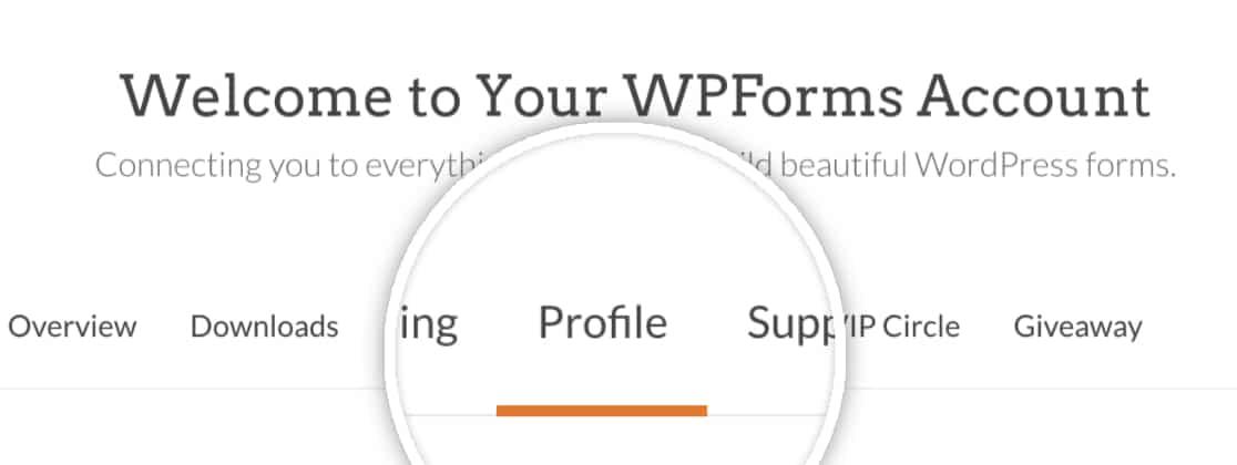 Profile tab in WPForms