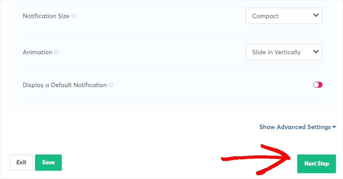 adjust appearance in live sales notification