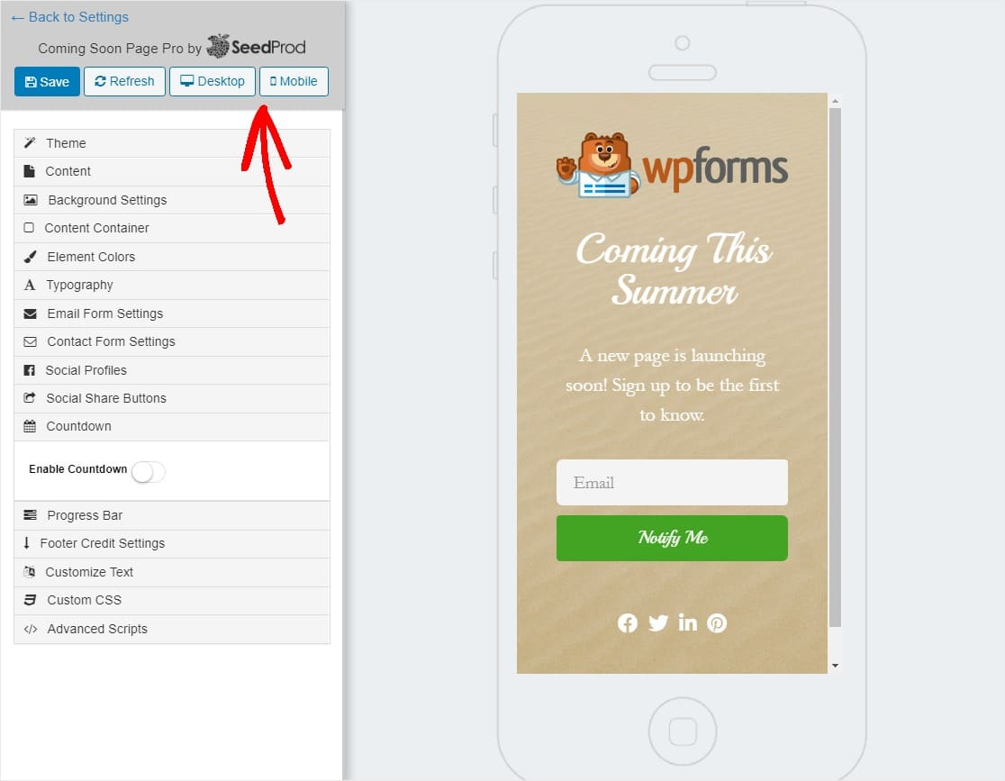 coming soon page on mobile how to create a coming soon page in wordpress