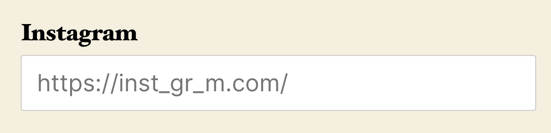 """An input mask for an instagram URL with the """"a"""" characters as blanks"""