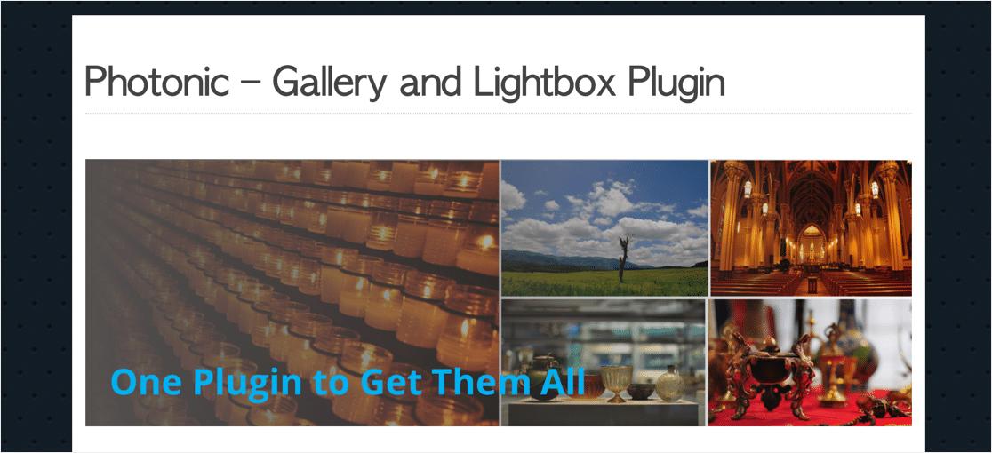 Photonix lightbox plugin