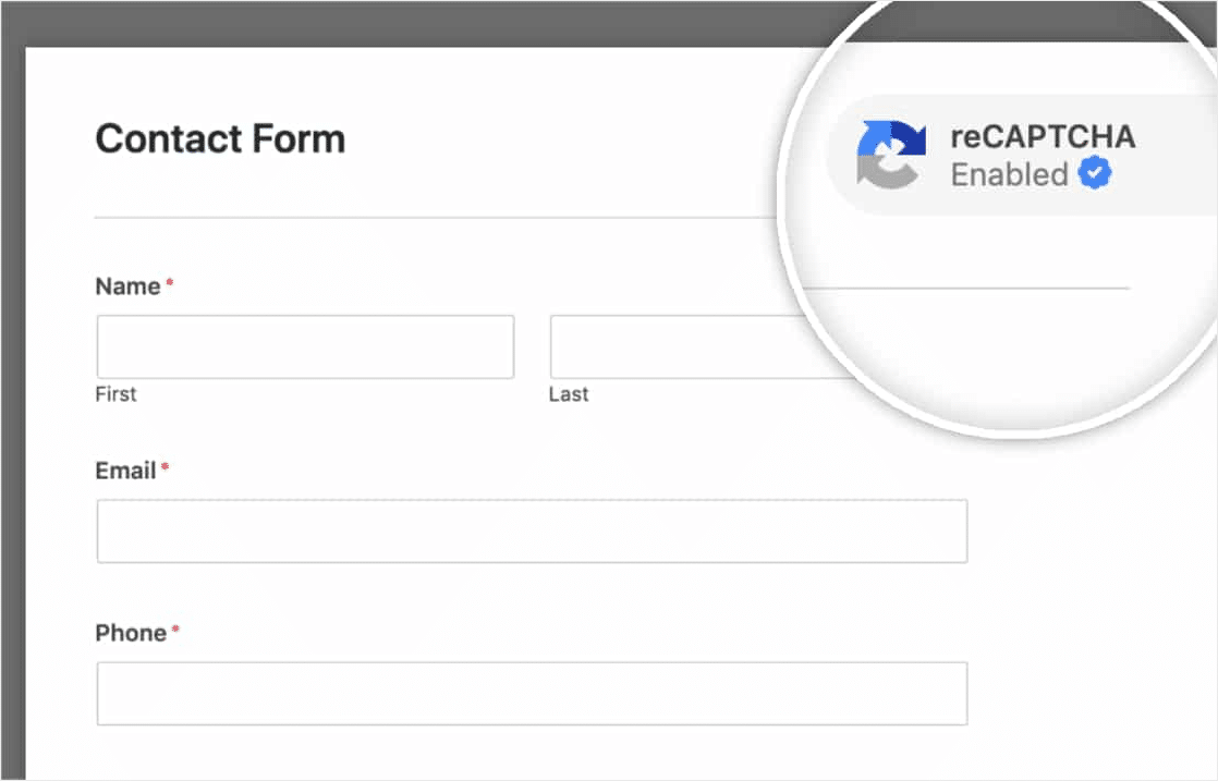 wordpress security tips to enable recaptcha on forms