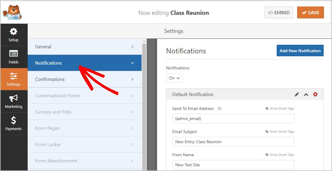 Class Reunion Notifications