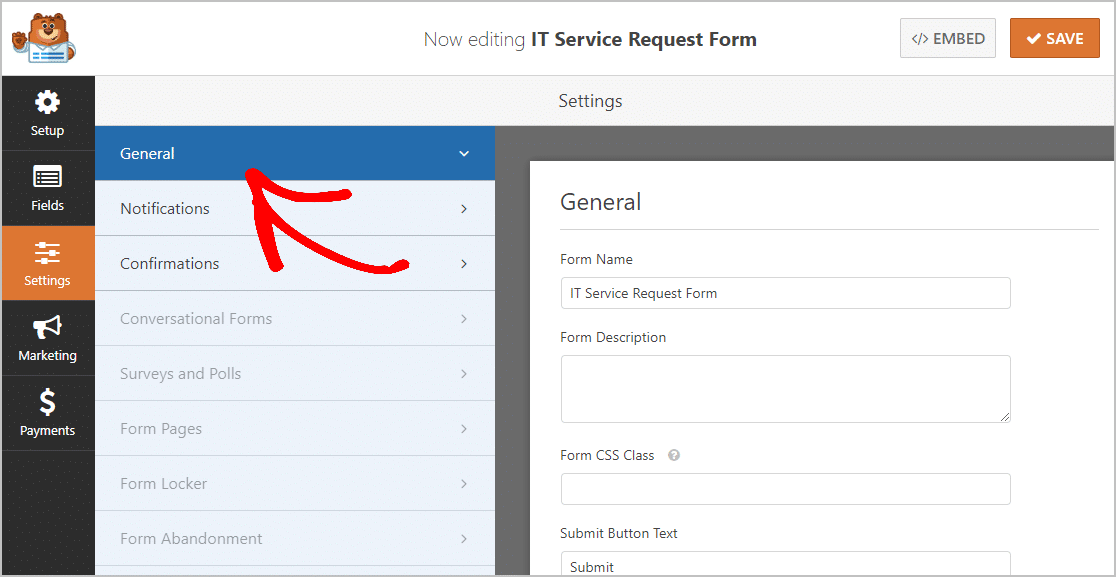 General IT Service Request Form