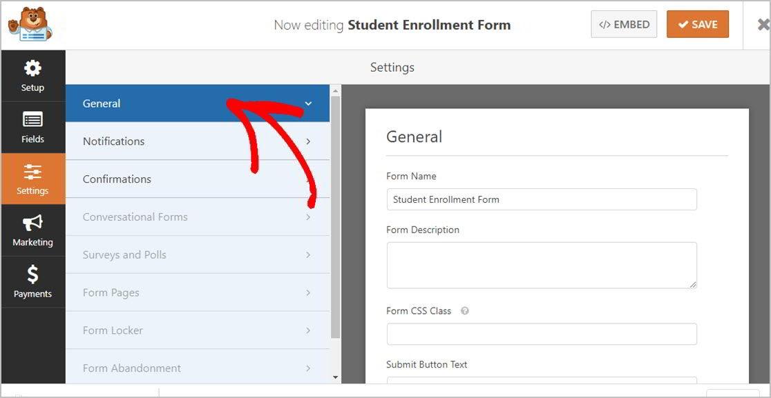 Student Enrollment Forms General
