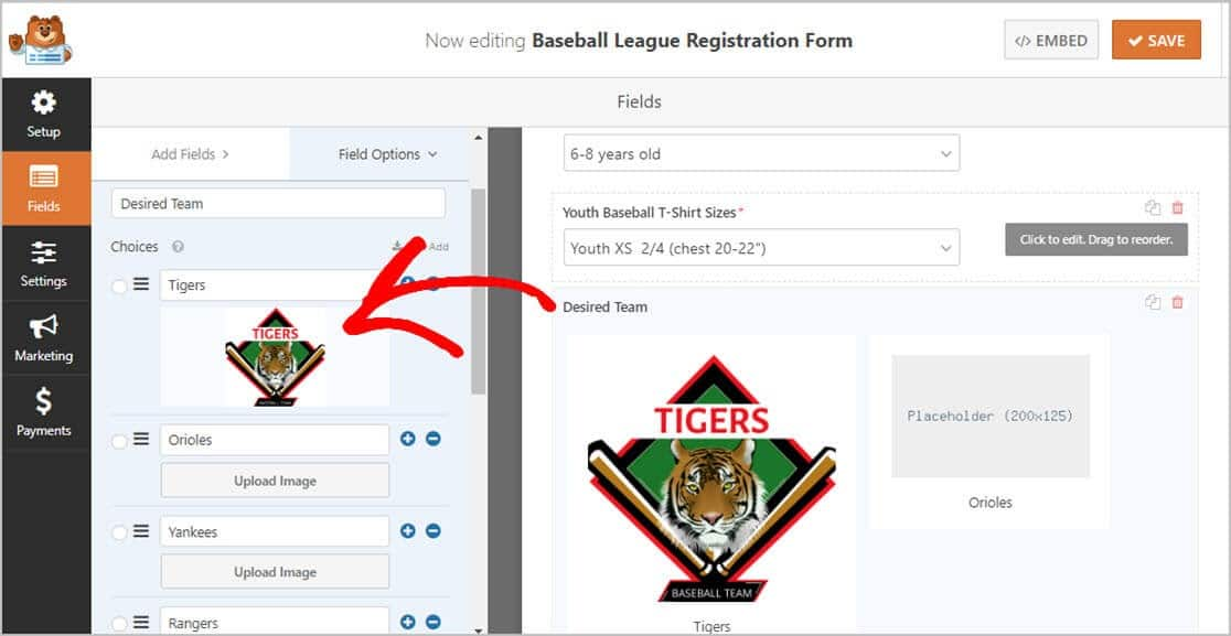 Youth Registration Form Logo