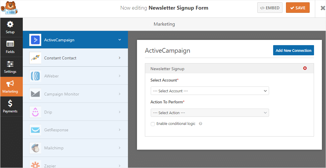 email marketing types of wordpress forms