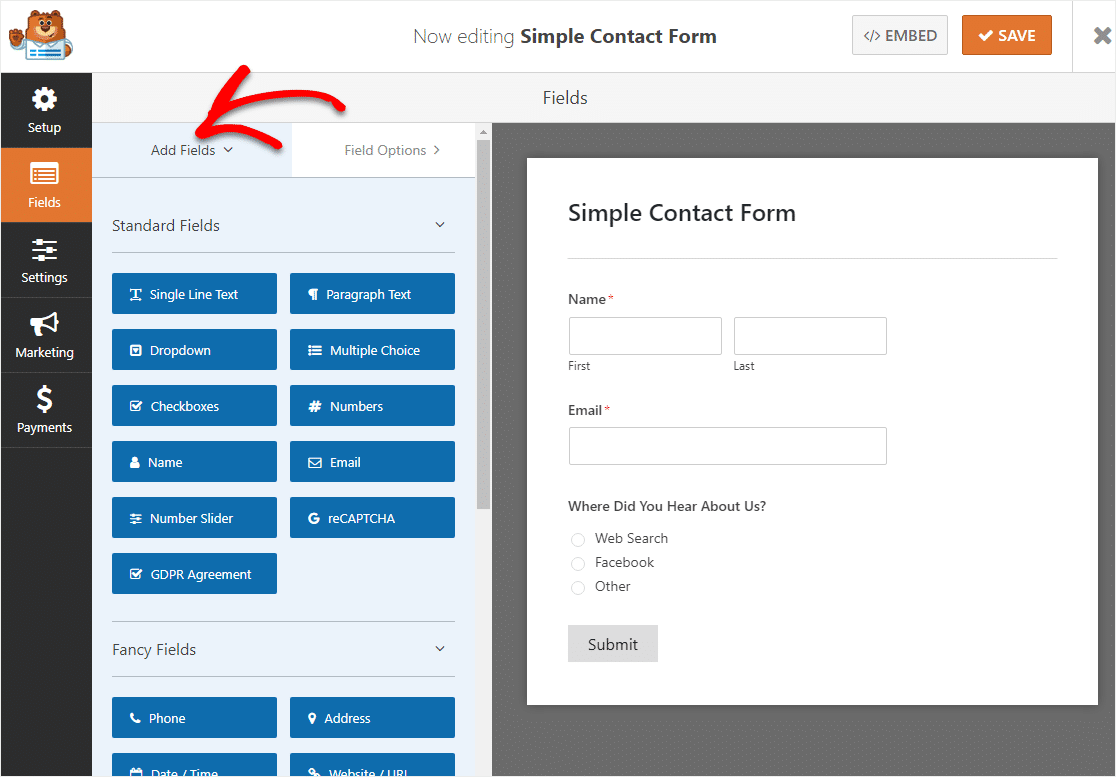 add single line text field to your conditional logic form