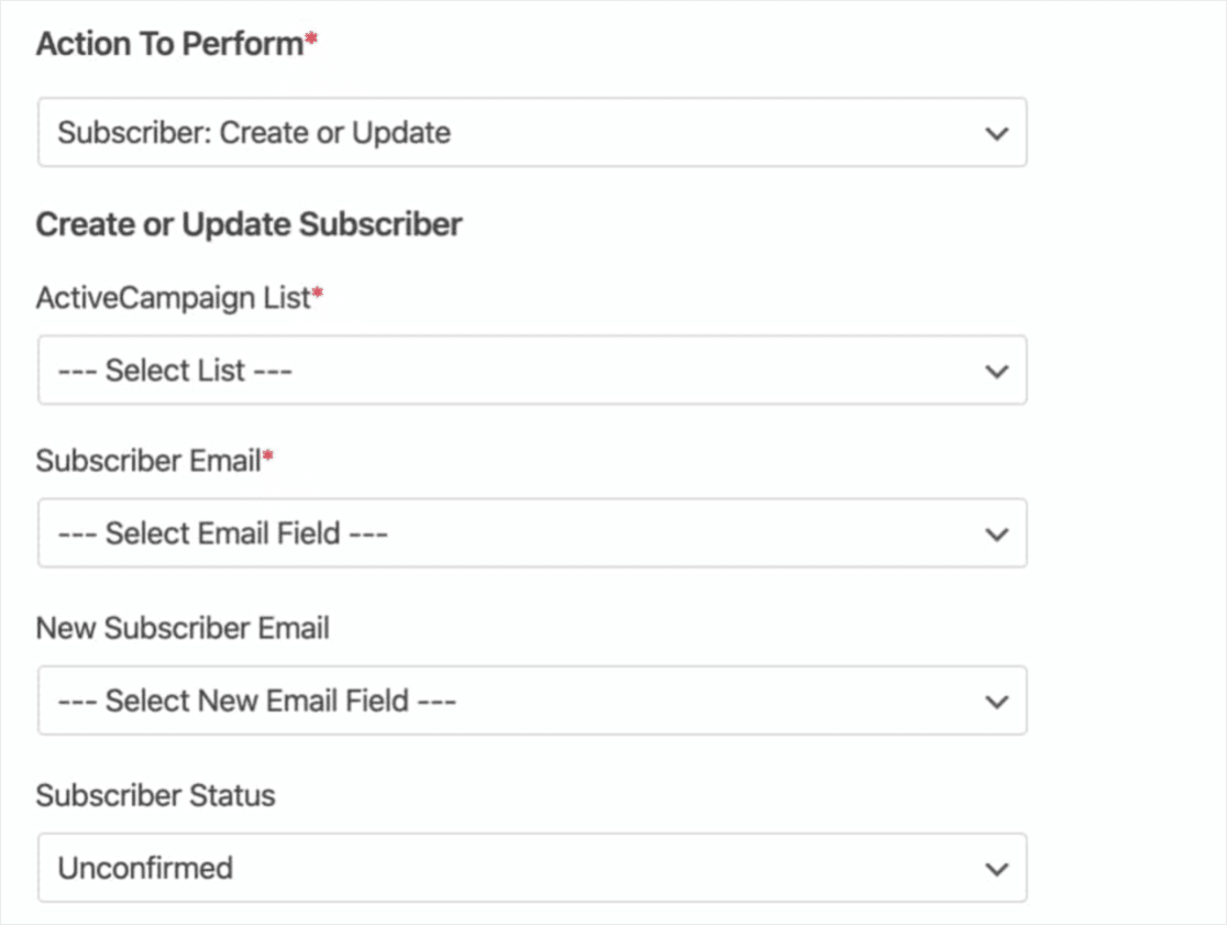 Configuring WPForms With ActiveCampaign Or Field Mapping