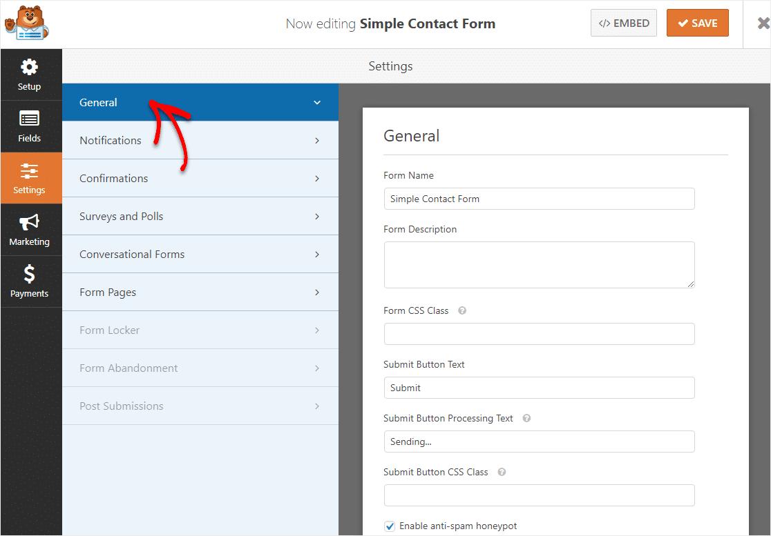 general settings customization