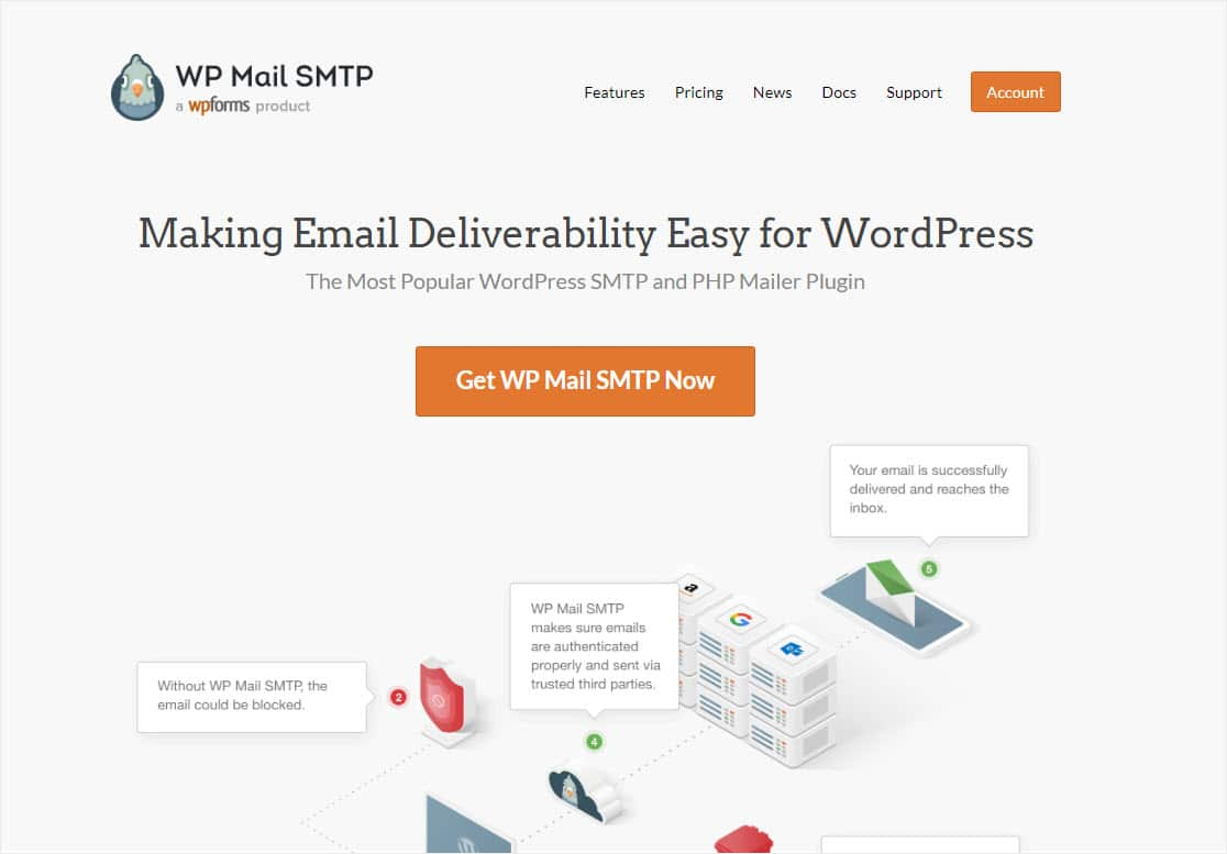 wp mail smtp homepage
