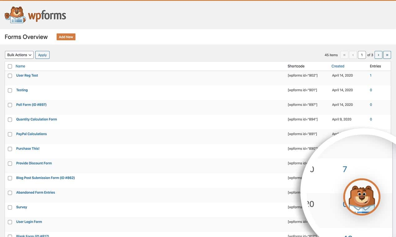 Flyout menu appears in the lower right-hand corner of all WPForms admin pages