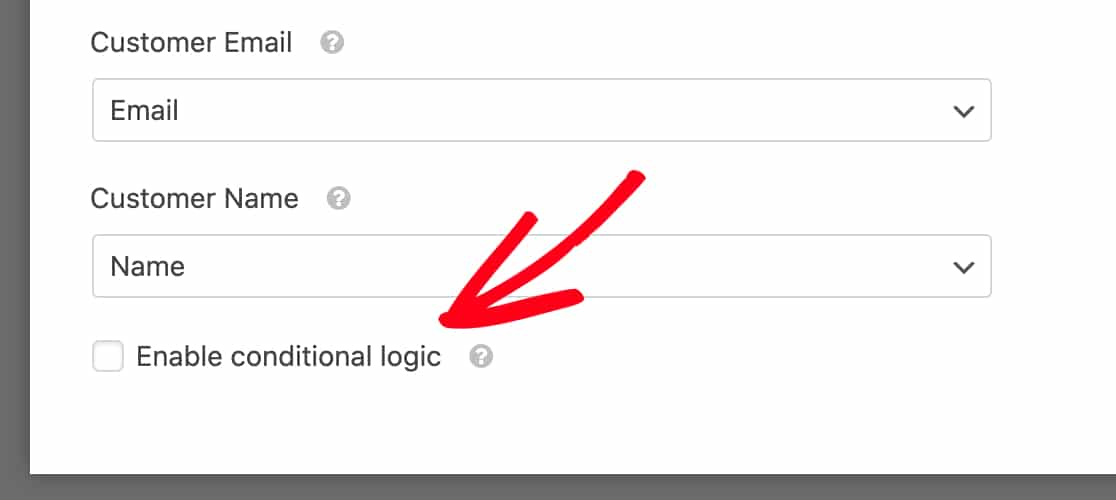 Enable conditional logic for recurring payments