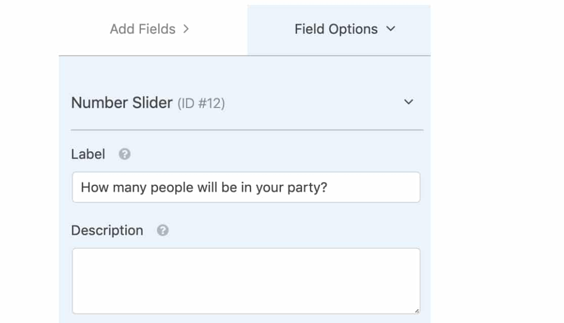Number Slider Label Option in WPForms