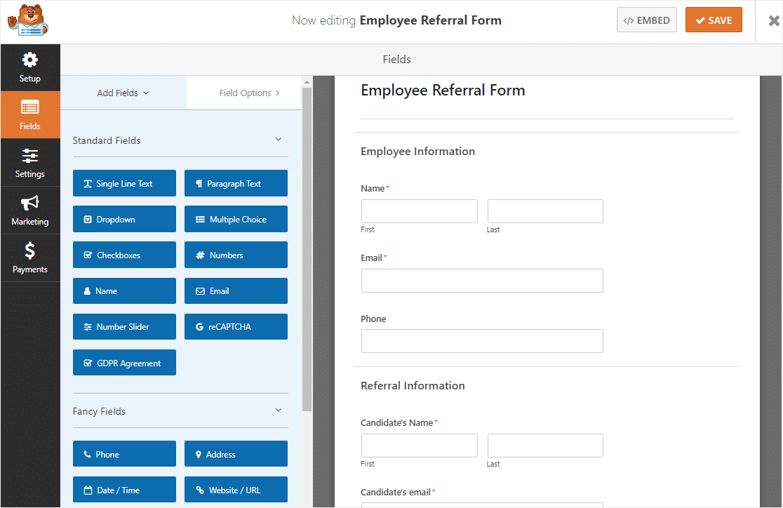 employee referral form template example