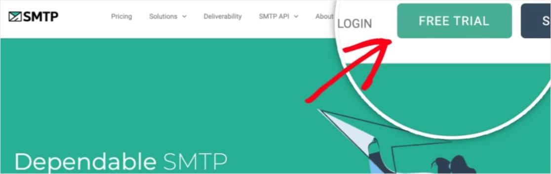 start free trial of smtp.com