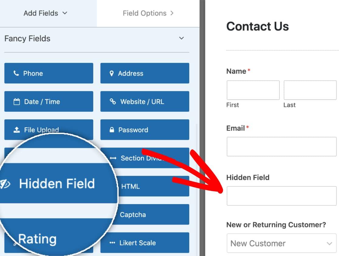 Add a Hidden Field