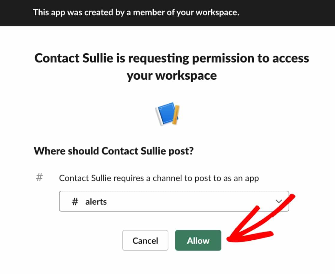 Allow Webhooks Permission in Slack