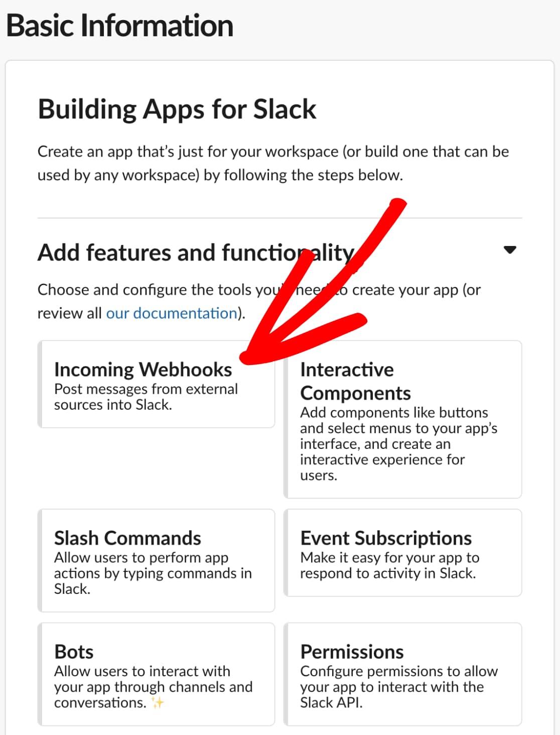 Incoming Webhooks Integration for Slack