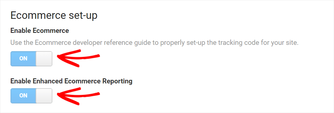 enable ecommerce tracking to set up google analytics in woocommerce